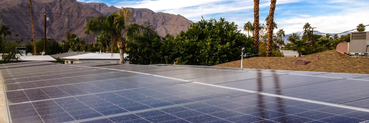 Sundacity solar panel installation banner